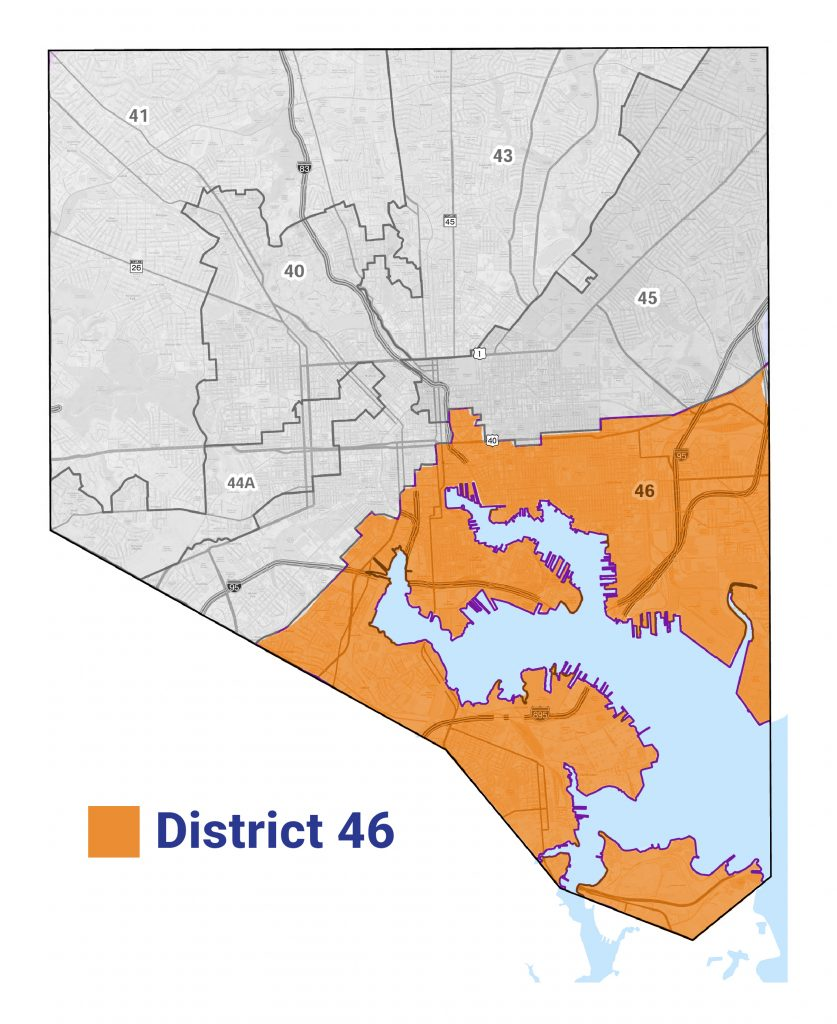 Map of District 46